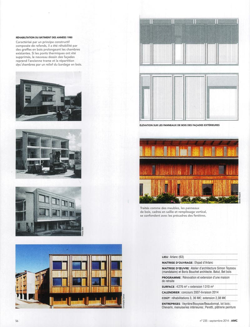 Publication amc le moniteur architecture maison de for Architecture maison de retraite